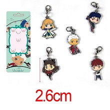 Fate stay night anime key chains a set