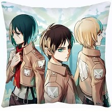 Attack on Titan anime two-sided pillow