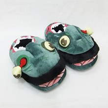 Zombie plush slippers a pair
