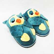 Owl anime plush slippers a pair