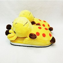 Giraffe anime plush slippers a pair