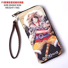 One Piece Luffy anime long wallet