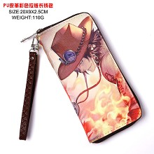 One Piece ACE anime long wallet