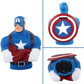 Captain America figure money box