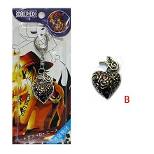 One piece fevil fruit cursed fruit anime key chain