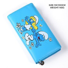 The Smurfs anime long wallet