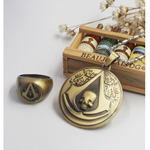 Assassin's Creed necklace+ring
