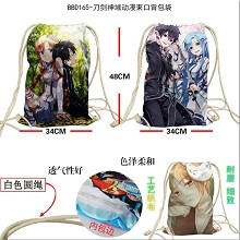 Sword Art Online anime drawstring backpack bag