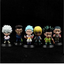 Hunter X Hunter anime figures set(6pcs a set)