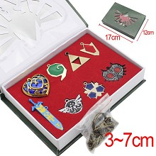 The legend of Zelda anime key chains set(8pcs a set)