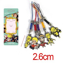 Naruto anime phone straps a set