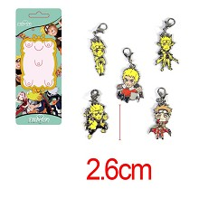 Naruto anime key chains a set