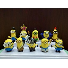 Despicable Me anime figures set(10pcs a set)