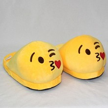 The anime plush shoes slippers a pair