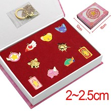 Card Captor Sakura anime key chains set(10pcs a set)