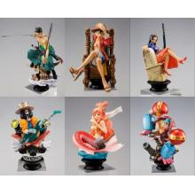One Piece anime figures set(6pcs a set)