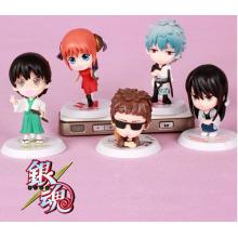 Gintama anime figures set(5pcs a set)