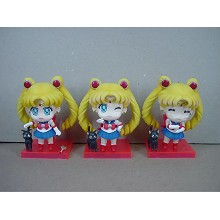 Sailor Moon anime figures set(3pcs a set)