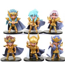 Saint Seiya anime figures set(6pcs a set)