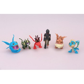 How to Train Your Dragon figures set(6pcs a set)