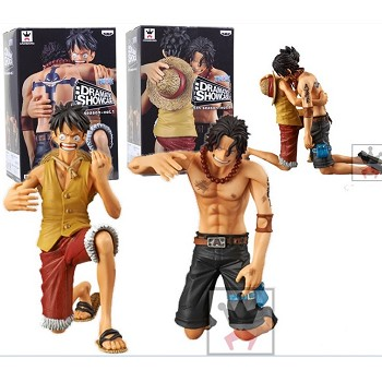 One Piece Luffy and ACE anime figures set(2pcs a set)