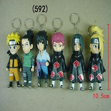 Naruto anime figure key chains set(6pcs a set)