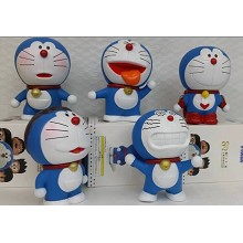 DoraCat Doraemon anime figures set(5pcs a set)