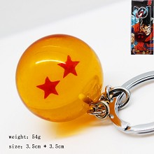 Dragon ball figure key chain two star 35MM