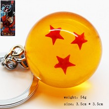 Dragon ball figure key chain three star 35MM