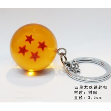 Dragon ball figure key chain four star 35MM