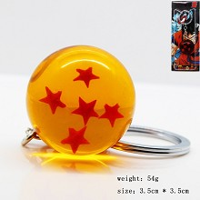 Dragon ball figure key chain five star 35MM