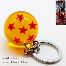 Dragon ball figure key chain six star 35MM