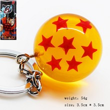 Dragon ball figure key chain seven star 35MM