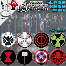 The Avengers anime brooch pins(8pcs a set)6CM