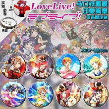 Love Live anime brooch pins(8pcs a set)6CM