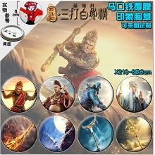 The Monkey King 2 movie brooch pins(8pcs a set)6CM