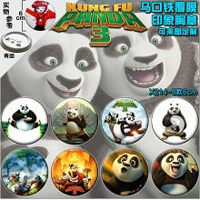 Kung Fu Panda 3 movie brooch pins(8pcs a set)6CM