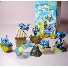 Stitch anime figures set(5pcs a set)