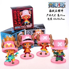 One Piece Chopper anime figures set(4pcs a set)