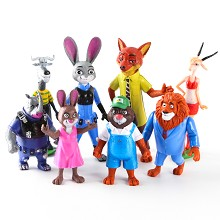 Zootopia anime figures set(8pcs a set)