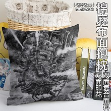 Howl's Moving Castle anime two-sided cotton fabric pillow