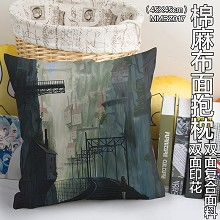 Castle in the Sky anime two-sided cotton fabric pillow