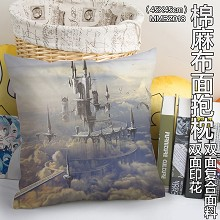 The anime two-sided cotton fabric pillow