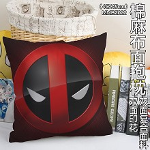 Deadpool two-sided cotton fabric pillow