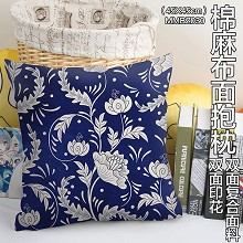 The two-sided cotton fabric pillow
