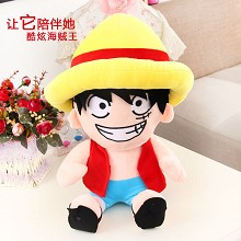 14inches One Piece Luffy anime plush doll