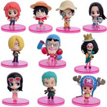 One piece anime figures set(10pcs a set)