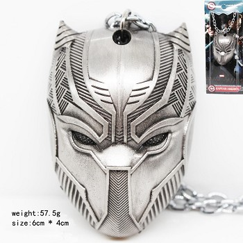 Captain America mask necklace