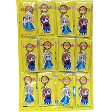 Frozen anime foamed plastic key chains set(12pcs a set)