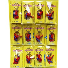 Spider Man anime key chains set(12pcs a set)